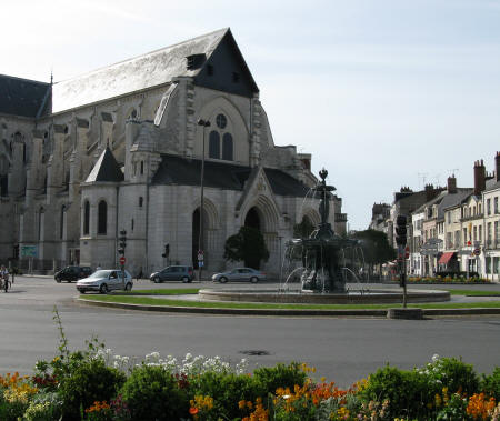 Fountains And Churches In Orleans France