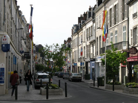 City Street in Orleans France